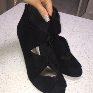 Black Formal Soft Suede Heels